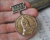 """Vintage Soviet Russian badge,pin.""""Alexander Nevsky- Prince of Novgorod"""""""