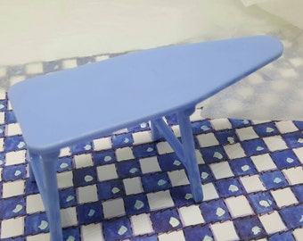 Renwal Blue Ironing Board Folds Household items  Toy Dollhouse Traditional Style Laundry Housework