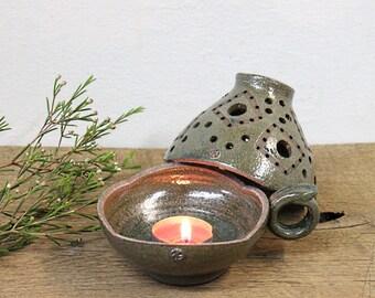 Stoneware CandleStick Holder, Handmade Ceramic Lamp, Pottery Candle Holder, Ceramic Candle Holder, Candle Keeper