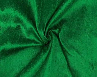 "Two 96"" x 50""  Custom  Lined Curtain Panels -  100% Dupioni Silk - Emerald or Pistachio Green"