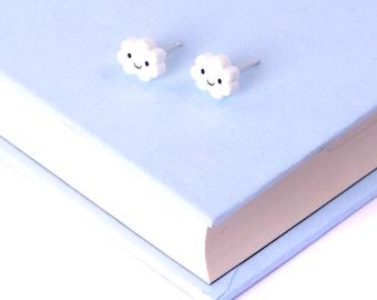 Cloud Earrings / Kawaii Earrings / Kawaii Jewellery / Cloud Studs Earrings Studs