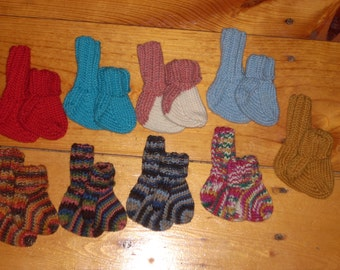 "Wool Baby Socks 2 1/2"" Foot - Your Choice"