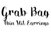 Grab Bag Item / Sliced Leather Earrings