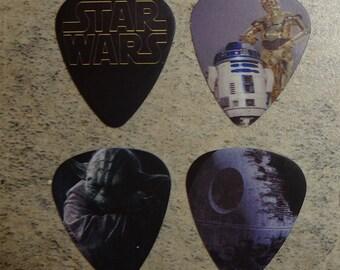 Set of 4 Star Wars single sided guitar picks