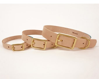 Leather dog collar with colorblock detail | WILLIS