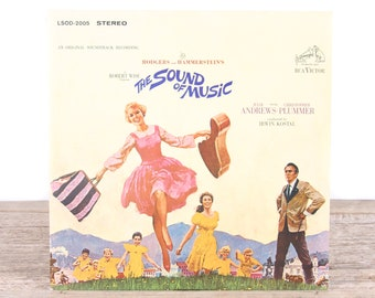 Vintage The Sound of Music Record / RCA Vinyl Records / Antique Vinyl Records / Old Records Music Party Decor / Rock Country Pop