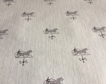Vintage Wallpaper- collectible 1960s horse racing, horse and jockey- by the yard