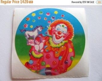 SALE Lisa Frank Clown Magician Makes Unicorn Appear Rare Vintage Sticker - 80's Rainbow