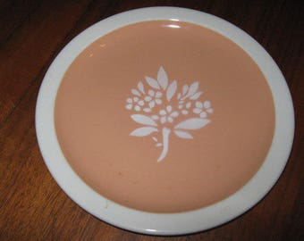 """Illinois Central Railroad ICRR Syracuse China Coral Pattern 7-1/4"""" Plate 1953"""