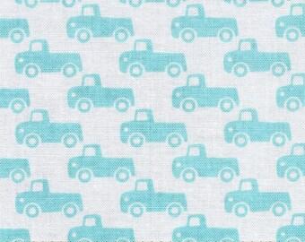 "END OF BOLT - 15"" X 44"" - Boy Tiny Trucks From Michael Miller"