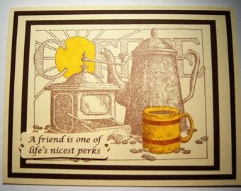 Coffee Scene Friend Card