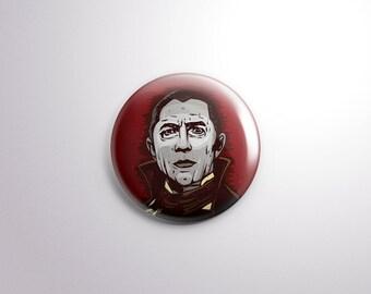 Dracula Pin Back Button - 1.25 Inch - Bela Lugosi- Universal Monster