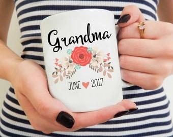 Grandma Coffee mug, Grandparents Mug, Custom Name mug, Mothers Day Gift, Baby Announcement Mug, Gift for Grandma, Custom Mug with Name, Cute