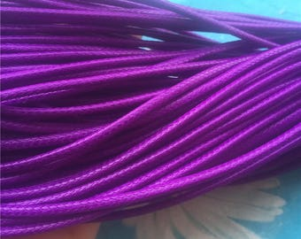 10 yards 2mm thickness pdark purple korea leather cords