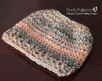 Crochet PATTERN - Messy Bun Hat Crochet Pattern - Ponytail Hat Crochet Hat Pattern - Messy Bun Hat - Toddler, Child, Adult Sizes -  PDF 438