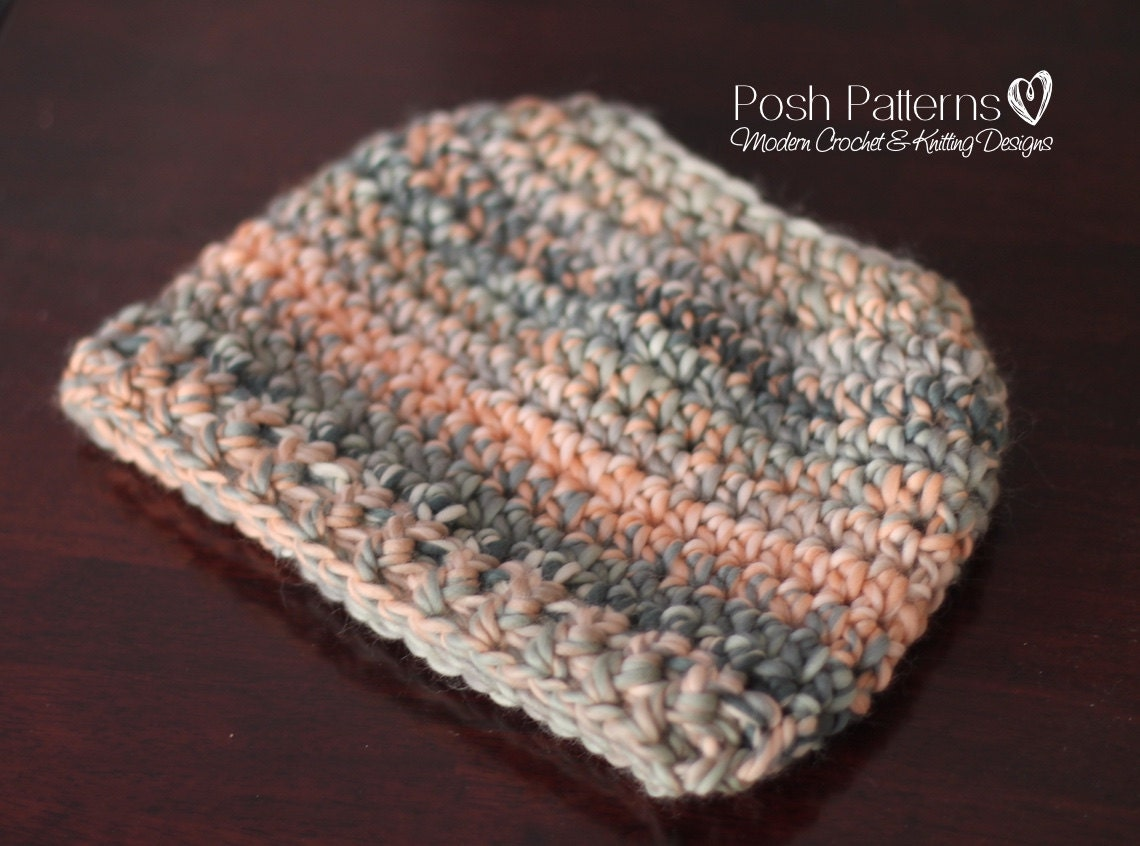 Crochet Bun Hat : Crochet PATTERN Messy Bun Hat Crochet Pattern by PoshPatterns