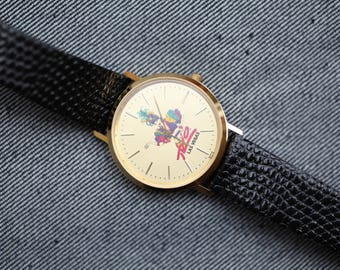 Vintage Mid Sized Bulova Quartz watch with Rio Las Vegas Hotel logo on dial gold tone case