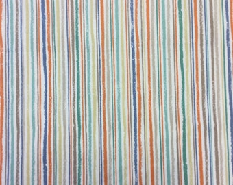 Makower 1735 Chalk Stripe cotton craft fabric by the half metre