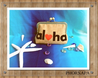 Aloha Clutch Summer Clutch Small Clutch Ready to Ship