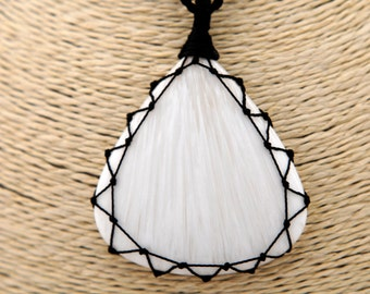 Girlfriend gifts, Scolecite necklace, Spiritual jewelry for her, White gemstone pendant for women, Healing Crystal pendants,  FREE SHIPPING