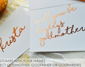 Will you be my Godmother Card, God mother greeting card, Fairy God mother card, Baby shower card, Baby shower invite, God mother gift,