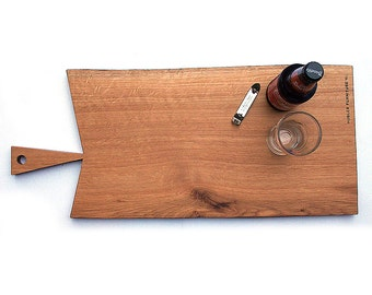 White Oak \ Wood \ Serving Platter \ Cutting Board \ Live Edge \ Salvaged