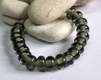 Dark Grey, Lampwork Spacer Beads, SRA, UK