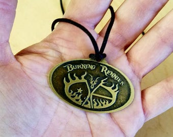 Burning Rennies Medallion - Pendant or Pin