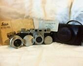 Incredible Leica IIF Package Including Camera Body, Leitz Elmar 5omm f45 lens + a Summaron 35mm E39 lens, case,orginal instructions & more
