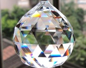 "10 pcs Clear Crystal Chandelier Ball Prisms Suncatcher Decor Pendant 30mm (1 1/8"" diameter)"