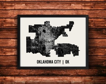 Oklahoma City Map Art Print | Oklahoma City Print | Oklahoma City Art Print | Oklahoma City Poster | Oklahoma City Gift | Wall Art