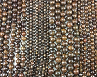 Natural Pietersite 6mm/8mm/10mm/12mm Round Beads, Full Strand G01099