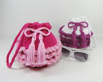 Ruffled Purse Crochet Pattern - Girl's Ruffled Purse Crochet Pattern #502 - Instant Download PDF