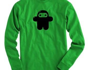 LS Wee Ninja Tee - Long Sleeve T-shirt - Men S M L XL 2x 3x 4x - Shawnimals, Ninjatown - 3 Colors