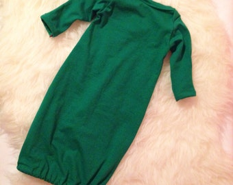 Baby Gown Green/ optional hat