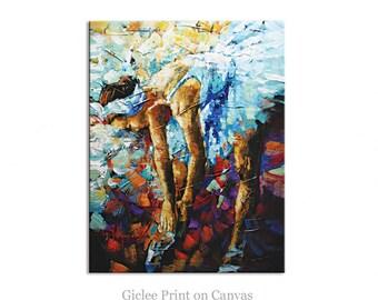 Ballerina Abstract Art Giclee Print on canvas Interior Decor P Nizamas ready to hang