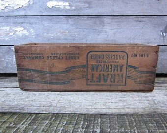 Antique Wood Box Kraft American Large 5lb Wooden Cheese Box Wood Crate Rustic Wedding Distressed Display Cheese Early 1900s Wooden Crate Box