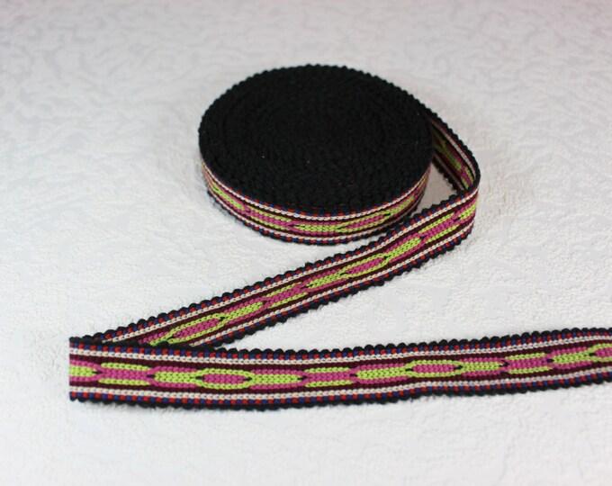 Woven Trim (6 yards), Woven Border, Cotton Ribbon, Grosgrain Ribbon, Dress Border, Border Trim, R145