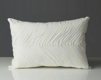 Chiffon Accent Lumbar Pillow Cover 12 x 18