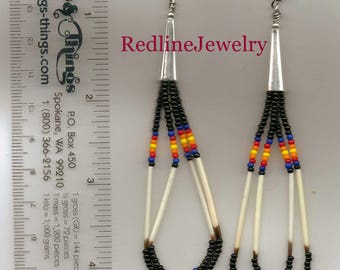 Black Porcupine Quill Earrings