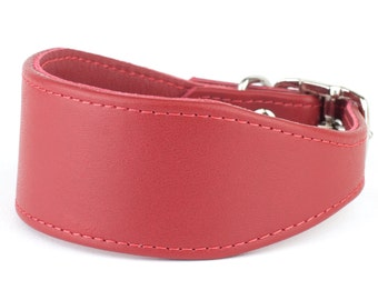 Soft Leather Whippet Collar - 20 Colours Available