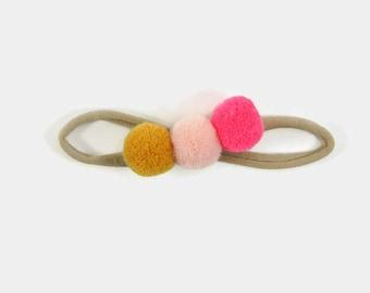 Baby Headband - Baby Girl Headband - Pink Baby Headband