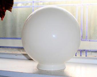 Vintage Milk Glass Globe Ceiling Light Shade 1950s