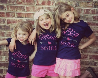 Big Middle Little Sister Shirts