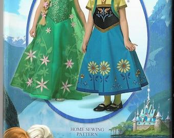 New Simplicity Pattern #1097 Disney Frozen Fever Costumes for Children Sz 3-8 Uncut Factory Folded