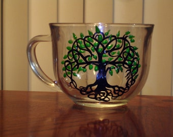 Tree of life coffee mug (1 available right away)