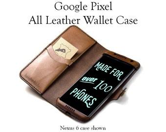 Google Pixel Leather Phone Wallet Case / Google pixel wallet / pixel phone case / google pixel wristlet /
