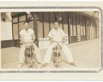 Motorbike Romeos vintage original old photograph found vernacular photo ephemera