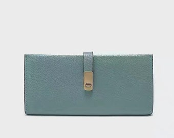 Real Leather Wallet Available in Blue, Pink & Grey. Choose any color you want.