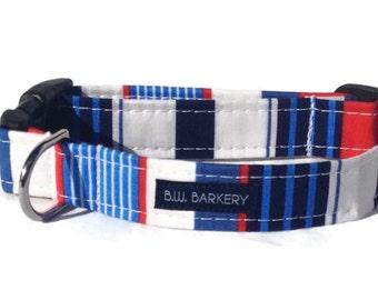 Nautical Stripes Dog Collar